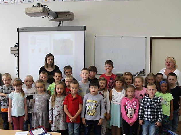 První ročník řevničovské základní školy vede třídní učitelka Pavla Schejbalová.
