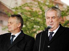 Prezident Miloš Zeman navštívil 28. dubna město Rakovník
