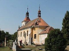 Oprava kostela Nanebevzetí Panny Marie v Panoším Újezdě