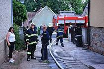 Hořela stodola v Nesuchyni