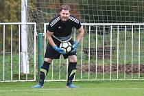 Z divizního fotbalového utkání Tatran Rakovník - Meteor Praha (0:2), Petr Kabele