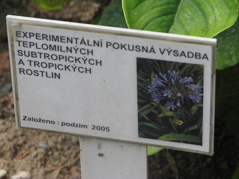 Botanická zahrada v Rakovníku.