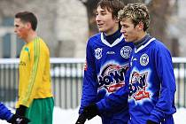 Jan Severin vlevo, ještě v bývalém Kladně B se spoluhráčem Markem Tóthem, kterého známe jako střelce futsalového Řevničova