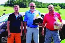 Vítězové Auto CB Škoda turnaje: zleva Tomáš Bystřický, Miroslav Zíbar a Milan Karaba.