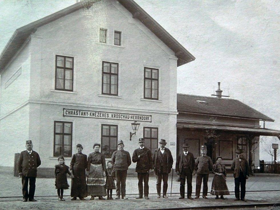 Nádražní dráhy Rakovník - Louny, zhruba rok 1904.