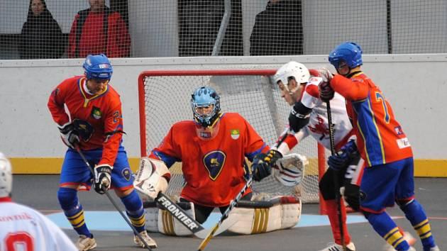 Rakovničtí hokejbalisté prohráli s Kert Praha 1:3 (1:2, 0:1, 0:0)