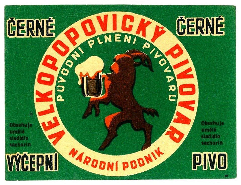 Pivní etiketa používaná v padesátých letech minulého století.