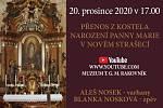 Plakát na novovstrašecký adventní koncert.