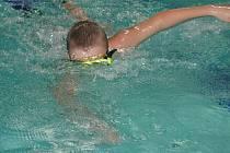 Plavec v rakovnickém bazénu.