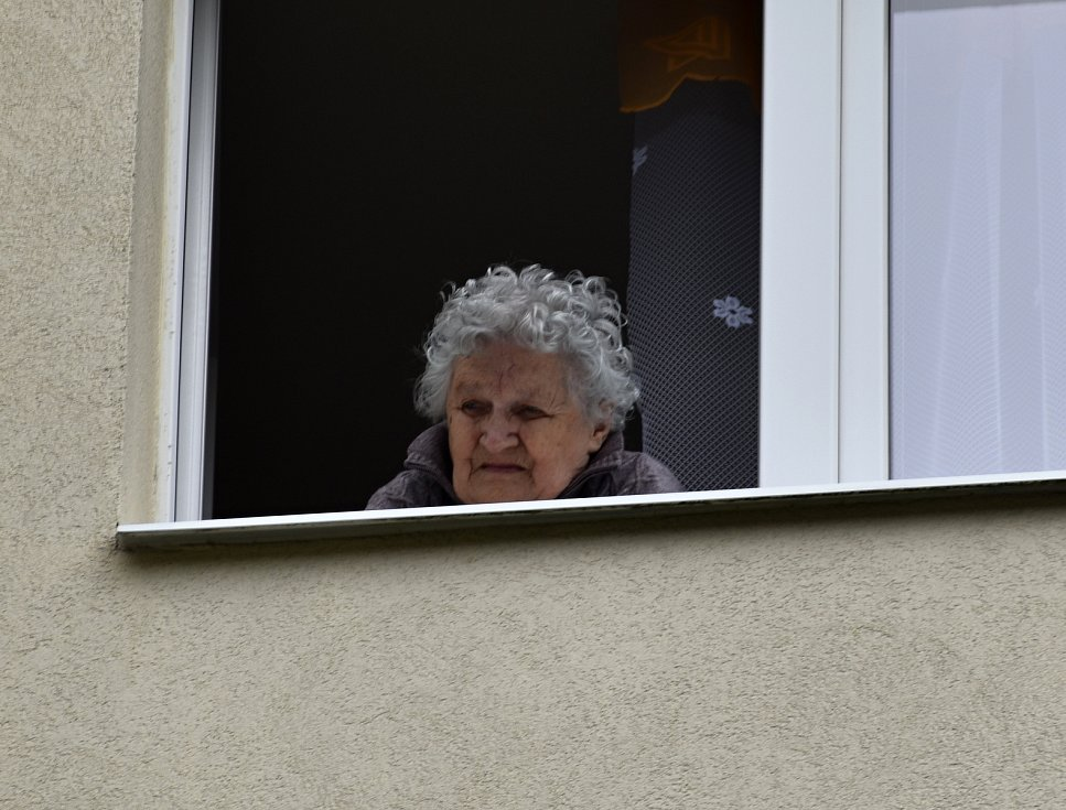Obyvatelka pečovatelského domu v Rakovníku.