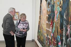 Slavnostní zahájení výstavy Sluneční lázně pražského malíře Vojtěcha Horálka.
