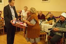 Marcel Chládek na plese seniorů
