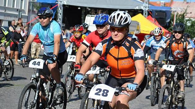 Rakovnické cyklování: Start hosrkých kol - 38 km