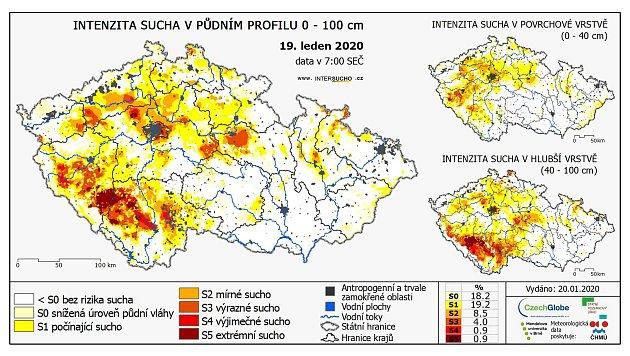 Stav sucha v19. lednu 2020.