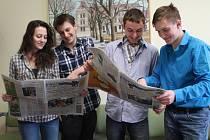 Studenti novostrašeckého gymnázia v projektu RWE Reportáž psaná o přestávce