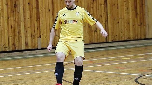 Rakovnický futsalista Milan Polák vstřelil Benešovu dva góly. Na body to však Rakovnickým nestačilo.