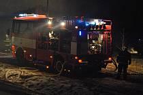 Požár sena a slámy v Rousínově na Rakovnicku