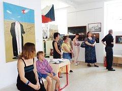 Výstava obrazů R. Ch. Skleničky v Praze
