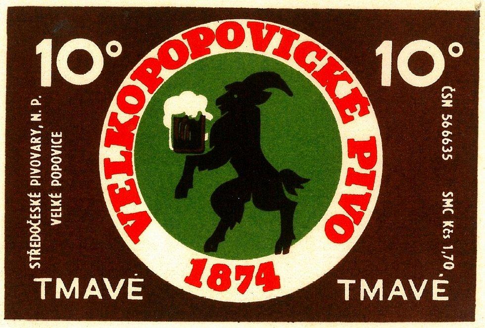 Tmavé pivo si žádá tmavší etiketu. Takovou mělo desetistupňové tmavé pivo v 60. letech.
