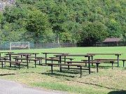 Fotbalové hřiště v Roztokách dnes.