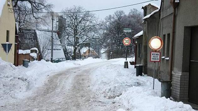 Čistá v pod sněhem