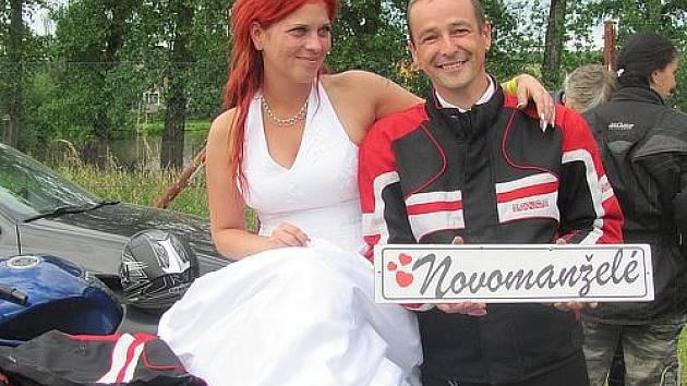 Sraz motorkářů v Olešné