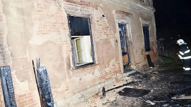 Požár kůlny v Chrášťanech