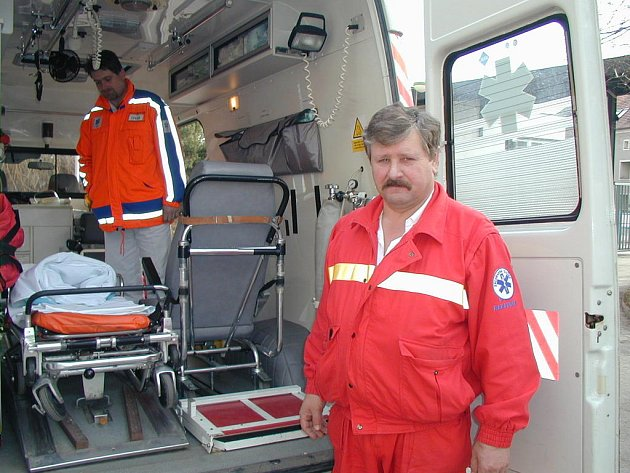 Záchranka rakovnické nemocnice