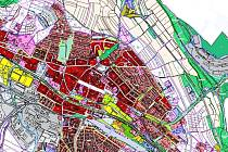 Návrh nového územního plánu města Rakovník.