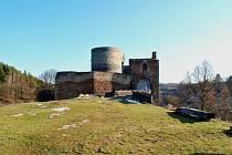 Hrad Krakovec a okolí začátkem jara 2013