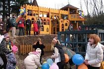 Dětské hřiště na Křivoklátě