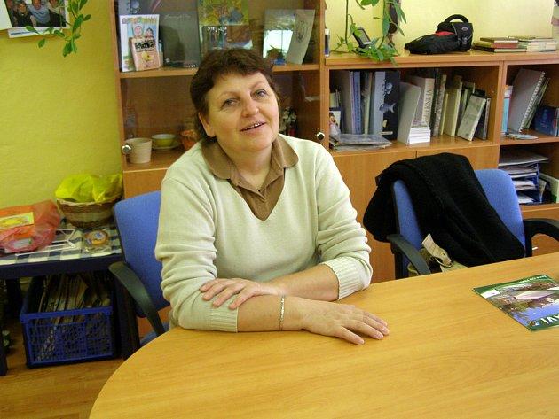Ředitelka Městské knihovny v Rakovníku Milena Křikavová.