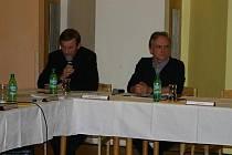 Jan Bechyně a starosta Karel Filip