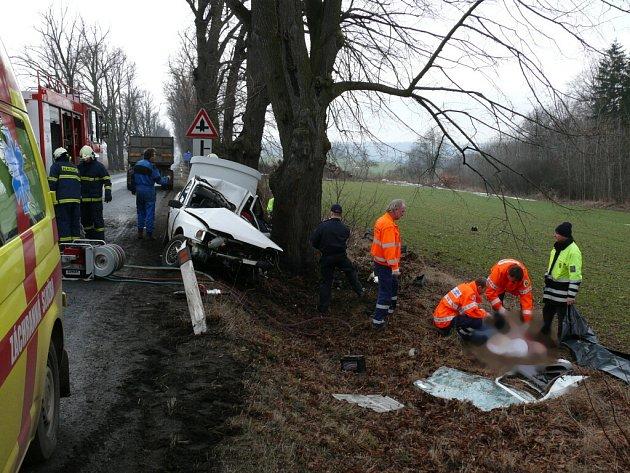 Dopravní nehoda u obce Kalivody