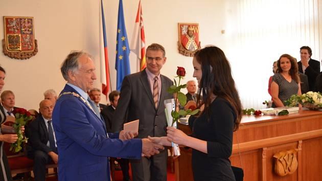Slavnostní předání výučních listů absolventům SOU Nové Strašecí.