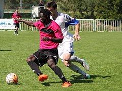 Fotbalisté rakovnického Tatranu zdolali Louny 1:0. Jediný gól vsítil Omovie.