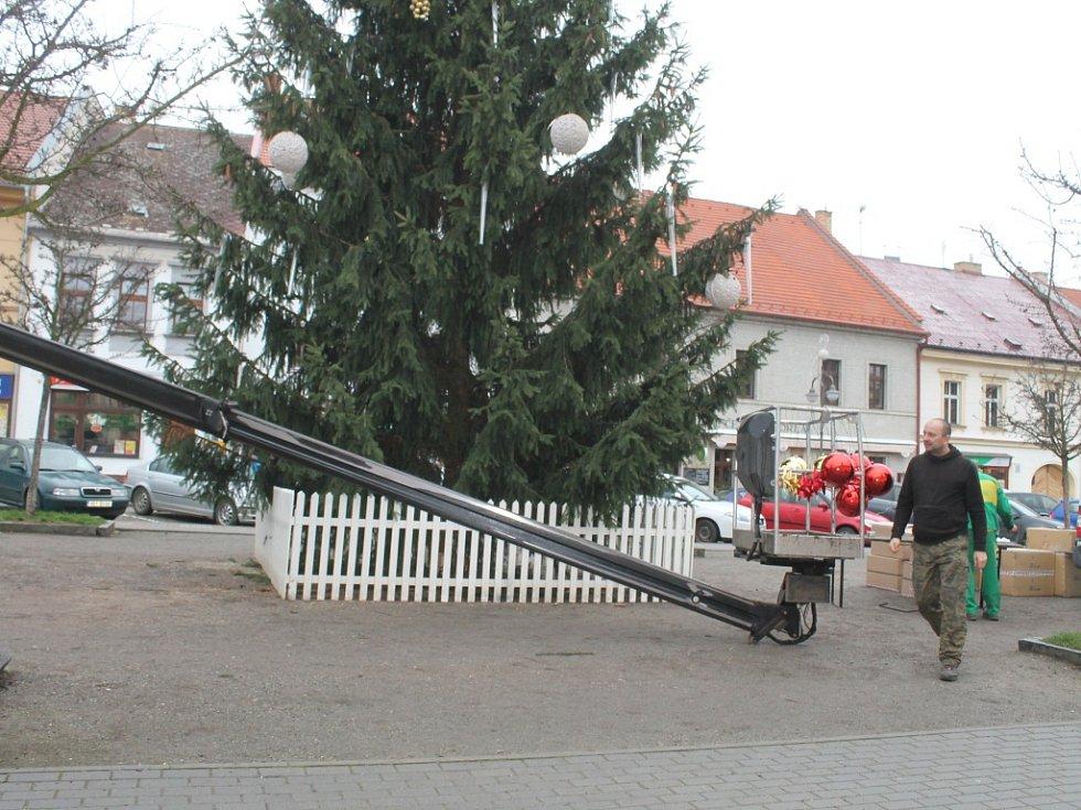 Vánoční výzdoba v Rakovníku a Novém Strašecí