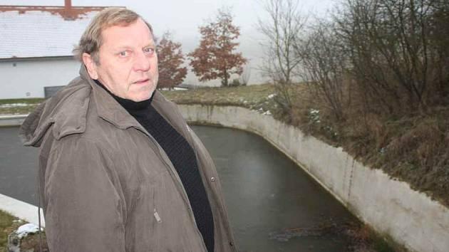 Zrenovovaný rybník v Krakovci