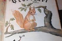 První stránka pamětní knihy veverkářů