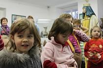Děti z MŠ Olešná na výstavě betlémů