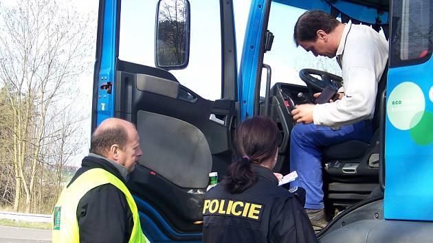 Kontrola řidičů kamionů