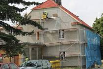 Oprava fasády kulturního domu v Oráčově