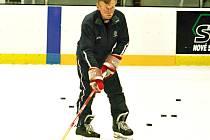 První trénink rakovnických hokejistů pod vedením nového kouče Otakara Vejvody staršího