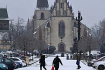 První březnový slunný víkend v Rakovníku vystřídala sněhová nadílka.