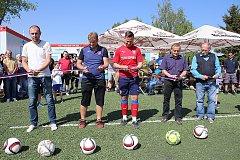 Slavnostní otevření fotbalgolfových hřišť v Pavlíkově.