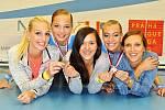 Závodnice z Aerobic clubu Angels posbíraly na závodech v Českém Brodě a Praze několik cenných medailí.