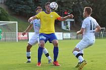 ČFL: SK Rakovník  (ve žlutém) - Viktoria Plzeň B 1:3