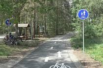 Rakovnická cyklostezka do Olešné.