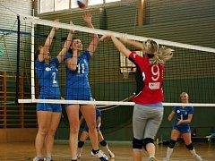 Volejbalistky VK Rakovník nestačily na Suchdol, kterému podlehli 1:3 a 0:3 na sety.