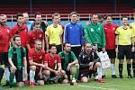 Z fotbalového utkání finále okresního poháru Lužná - Lubná (1:3)